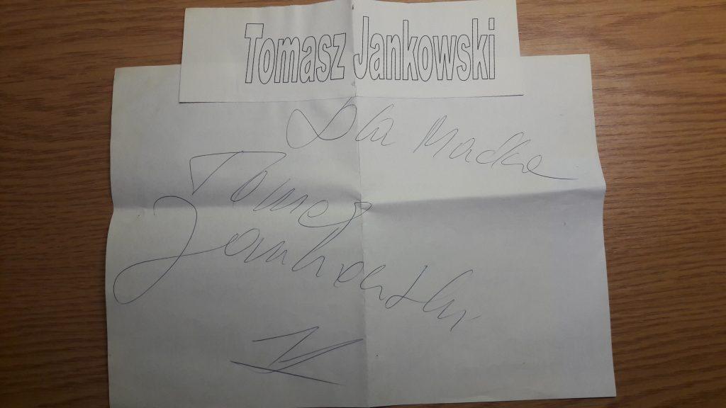 Tomasz Jankowski autograf